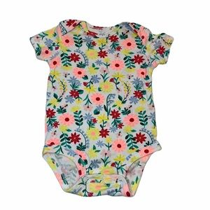 Carter's Floral Print Onesie Size 12 Month